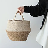 COLLAPSIBLE JUTE x SEA GRASS TOTE