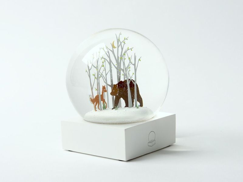 Cool Snow Globes Fox and bear