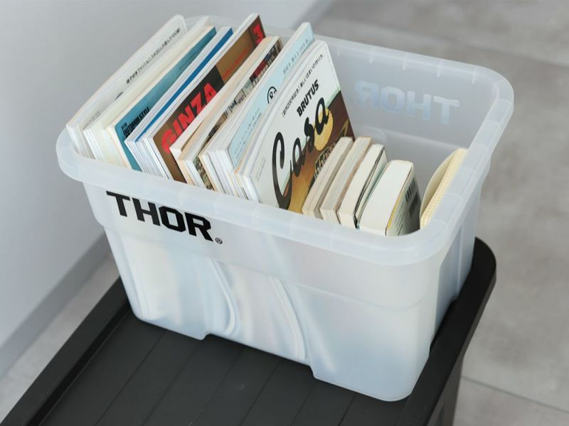 """Thor Large Totes With Lid""""22L / Black Gray Olive drab Coyote Clear""""ソーラージトートウィズリッド 22L ディテール DETAIL 収納ボックス コンテナボックス 329222"""